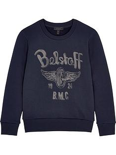 belstaff-boys-printed-crew-neck-sweatshirt-navy