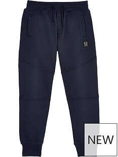 belstaff-boys-logo-cuffed-joggersnbsp--navy