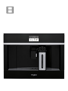 Whirlpool W Collection W11CM145 45cm Built-In Coffee Machine - Black