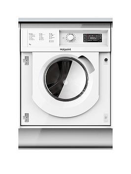 Hotpoint Biwmhg71483Ukn 7Kg Load, 1400 Spin Integrated Washing Machine - White - Washing Machine Only