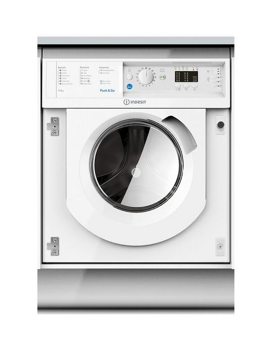 Indesit Biwdil7125 7kg Wash 5kg Dry 1200 Spin Washer Dryer With