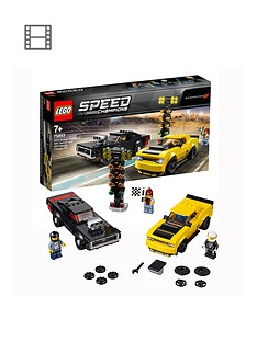 LEGO Speed Champions 2018 Dodge Challenger SRT Demon Car and 1970 Dodge Charger R/T Car