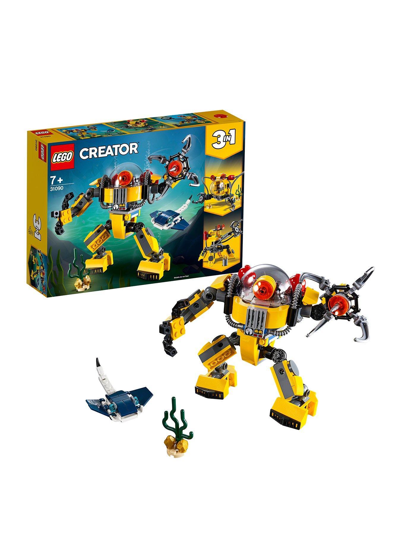 1240 Lego Robot Arm with Clip Silver 4 Piece