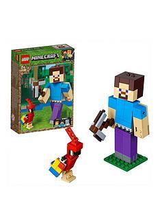 LEGO Minecraft 21148Minecraft™ BigFig Steve with parrot