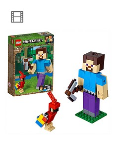 LEGO Minecraft 21148 Minecraft™ BigFig Steve with parrot
