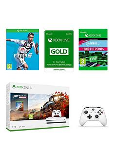 xbox-one-s-xbox-one-s-1tb-forza-horizon-4-with-fifa-19-fifa-19-ultimate-team-points-12000-wireless-controller-and-12-months-live