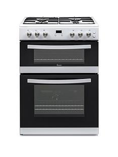 Swan SWAN SX15862W 60CM DOUBLE GAS COOKER WHITE Best Price, Cheapest Prices
