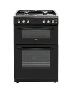 Swan SWAN SX15862B 60CM DOUBLE GAS COOKER BLACK Best Price, Cheapest Prices