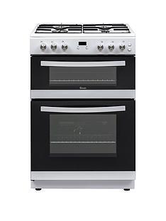 swan-sx15890w-60cm-widenbsptwin-cavitynbspgas-cooker-white
