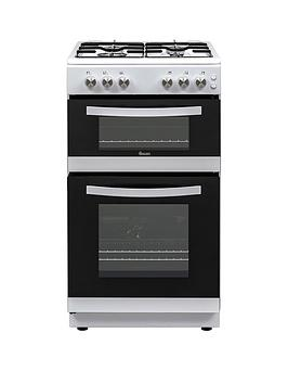 swan-sx15871w-50cm-wide-twin-cavity-gas-cooker-white