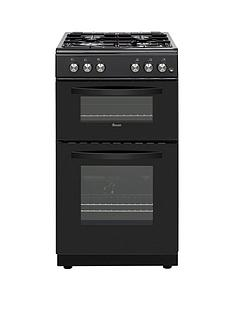 swan-sx15871b-50cm-wide-twin-cavity-gas-cooker-black