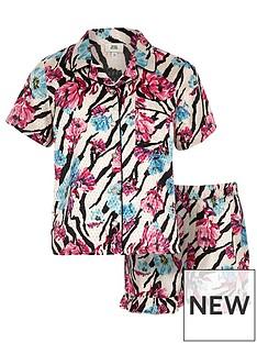 river-island-girls-pink-floral-zebra-print-pyjama-set