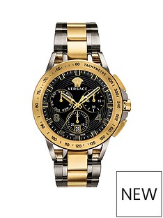 versace-versace-sport-tech-blue-and-gold-detail-chronograph-45mm-dial-two-tone-stainless-steel-bracelet-mens-watch