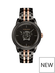 versace-versace-palazzo-empire-black-3d-medusa-43mm-dial-black-ip-and-rose-gold-stainless-steel-bracelet-mens-watch