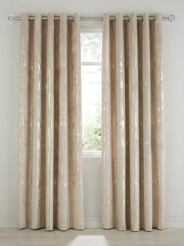 Embossed Velvet Eyelet Curtains