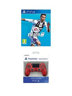 playstation-4-fifa-19-with-magma-red-dualshocknbspwireless-controller