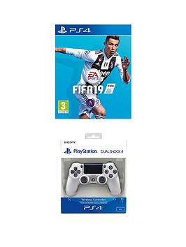 Playstation 4 Fifa 19 With Silver Dualshock