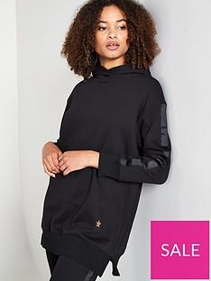 south-beach-longline-hoodie-black