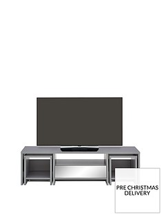 Kyoto MultiFunctional TV Unit with Mirror Effect trims - fits up to 60 inch TV
