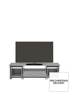 Riga MultiFunctional TV Unit with Mirror Effect Drawer Front - fits up to 60 inch TV