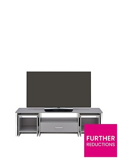 Riga Multi Functional TV Unit with Mirror Effect Drawer Front - fits up to 60 inch TV