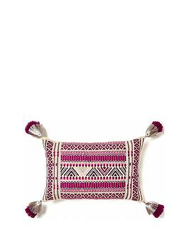 monsoon-aztec-stitch-cushion