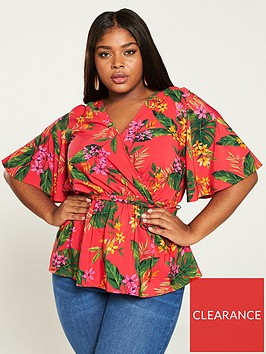 v-by-very-curve-printed-wrap-blouse-tropical