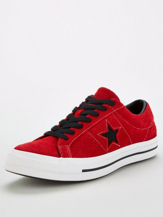 4d86d65d5655 Converse One Star Trainers - Red