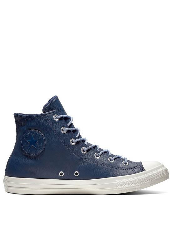 e6eb072a2e9b Converse Chuck Taylor All Star Leather Hi - Navy White