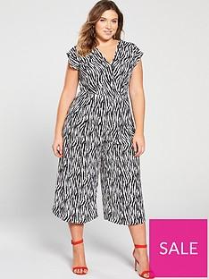 db188be76afd2 AX PARIS CURVE Zebra Print Jumpsuit - Black/White