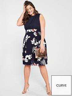 AX PARIS CURVE 2 In 1 Printed Dress e13c26631