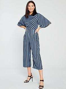 e60f4136c9 AX Paris Striped Culotte Jumpsuit - Blue