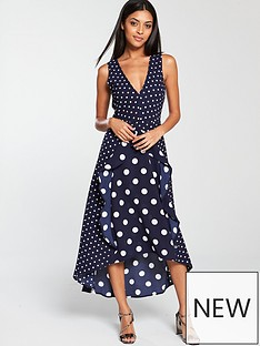 ax-paris-polka-dot-frill-front-dress