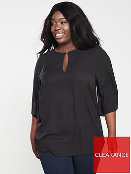 v-by-very-curve-kimono-sleeve-longline-blouse-black