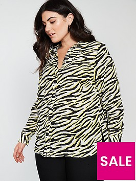 v-by-very-curve-button-through-longline-blouse--nbspzebra-printnbsp
