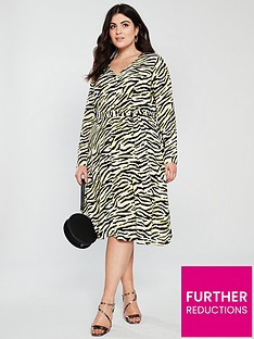 v-by-very-curve-zebra-print-button-detail-dress-animal-print