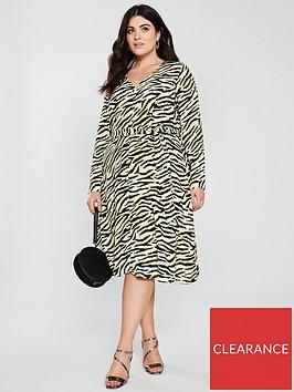 v-by-very-curve-zebra-print-button-detail-dress-animal-print