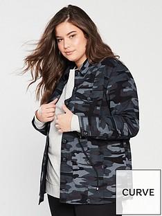 372834751956 V by Very Curve Camouflage Jacket - Camo
