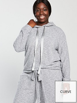 v-by-very-curve-soft-touch-rib-hoodie-grey