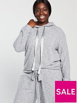 v-by-very-curve-soft-touch-rib-hoodie-grey