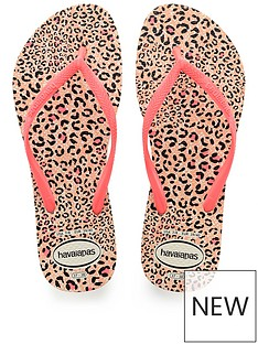 havaianas-girls-slim-animal-flip-flops-white-coral