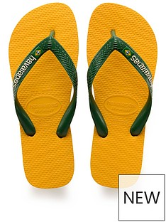 9fb46ae65 Havaianas Brasil Logo Flip Flops - Yellow