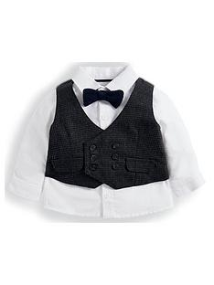 mamas-papas-baby-boys-dogtooth-waistcoat-and-shirt-set-brown