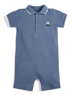 mamas-papas-baby-boys-pique-boat-romper-blue
