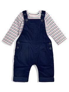 mamas-papas-baby-boys-stripe-tee-and-dungaree-set-navy