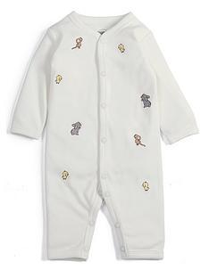 mamas-papas-baby-unisex-embroidered-romper-cream