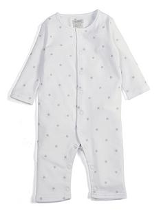 8994f5c78402fb Mamas   Papas Unisex Star Embroidered Romper - White