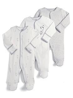 mamas-papas-unisex-3-piece-sleepsuit-set-white