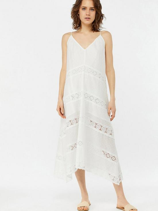 eacf63513c Accessorize Lace Insert Maxi Dress - White | very.co.uk