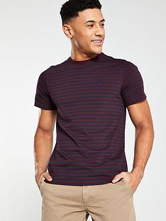 barbour-delamere-stripe-tee-ruby